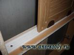 пластмассовые ролики (для небольших дверей)